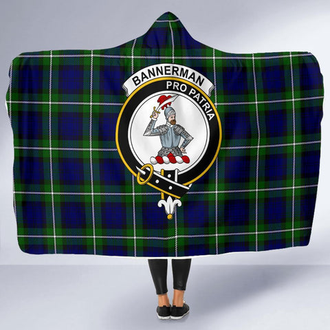 Bannerman Clans Tartan Hooded Blanket - BN