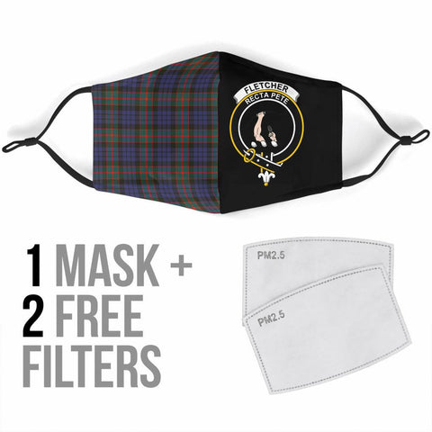 Fletcher of Dunans  Tartan Mouth Mask The Half Th88