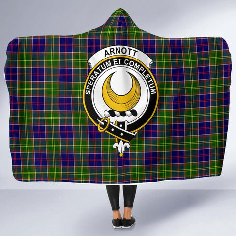 Image of Arnott Clans Tartan Hooded Blanket - BN