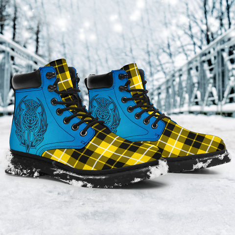 Barclay Dress Modern Tartan All-Season Boots - Celtic Thistle TH8