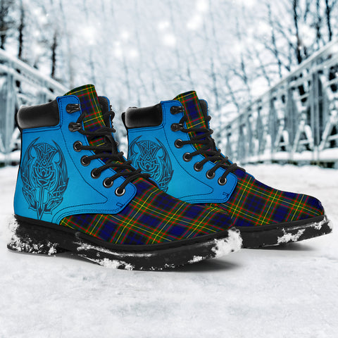 Image of Clelland Modern Tartan All-Season Boots - Celtic Thistle TH8
