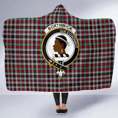 Image of Borthwick Clans Tartan Hooded Blanket - BN