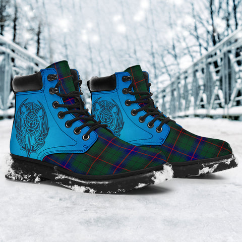Image of Davidson Modern Tartan All-Season Boots - Celtic Thistle TH8