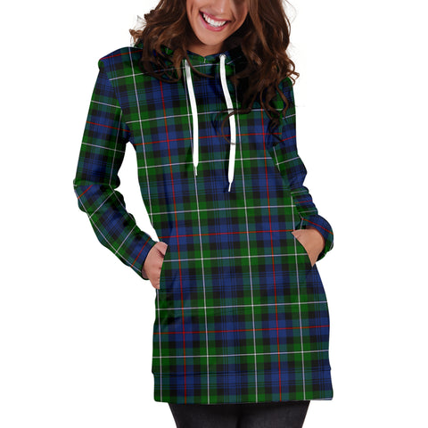 Image of MacKenzie Modern Tartan Hoodie Dress HJ4