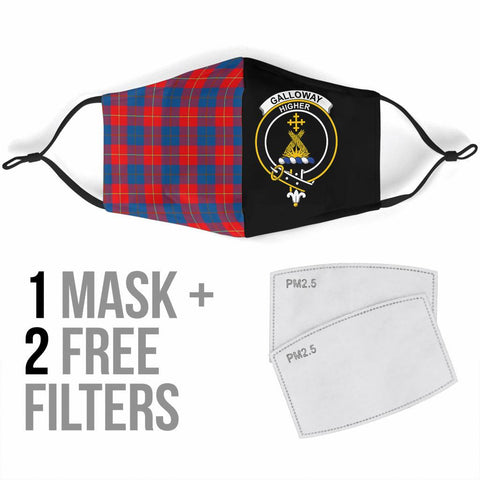 Galloway Red  Tartan Mouth Mask The Half Th88