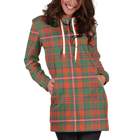 MacKinnon Ancient Tartan Hoodie Dress HJ4