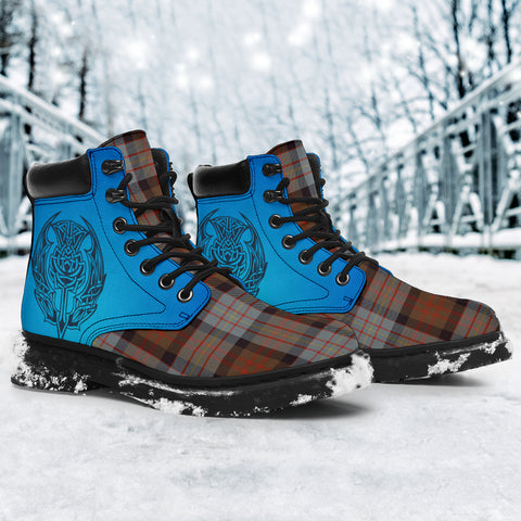 Cameron Of Erracht Weathered Tartan All-Season Boots - Celtic Thistle TH8