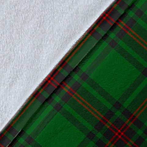 Kirkaldy Crest Tartan Blanket | Tartan Home Decor | Scottish Clan