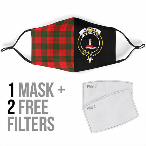 Erskine Modern  Tartan Mouth Mask The Half Th88