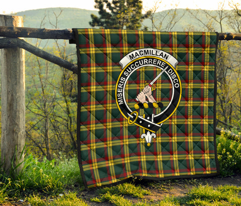 MacMillan Old Modern Tartan Clan Badge Premium Quilt TH8