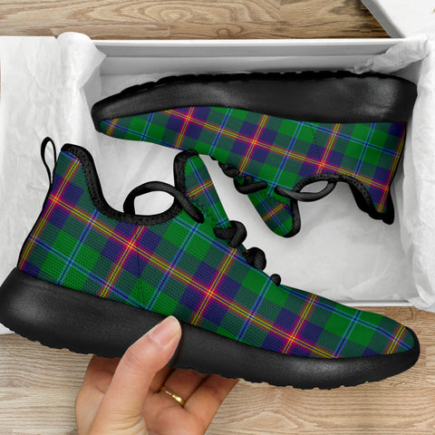Image of Tartan Mesh Knit Sneakers - Young Modern