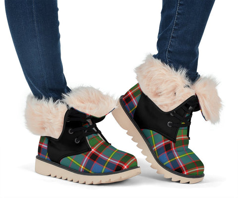 Image of Tartan Women's Snow Boots - Clan Aikenhead Boots Side Crest - BN
