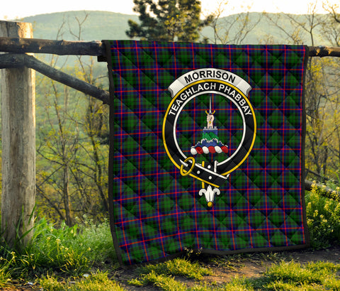 Morrison Modern Tartan Clan Badge Premium Quilt TH8