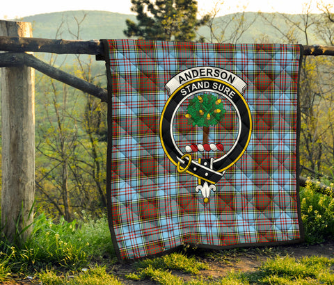 Image of Anderson Ancient Tartan Clan Badge Premium Quilt TH8