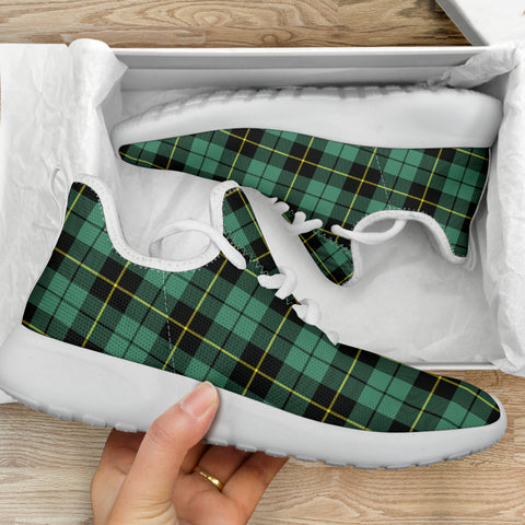 Image of Tartan Mesh Knit Sneakers - Wallace Hunting Ancient
