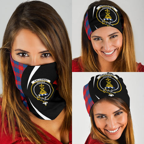 Galloway Red Tartan Bandana Circle Hj4