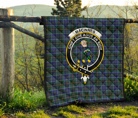 MacInnes Modern Tartan Clan Badge Premium Quilt TH8