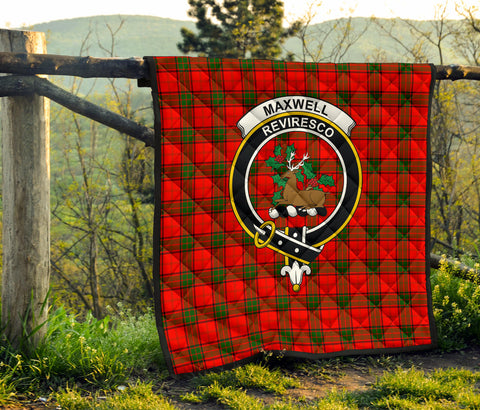 Maxwell Modern Tartan Clan Badge Premium Quilt TH8