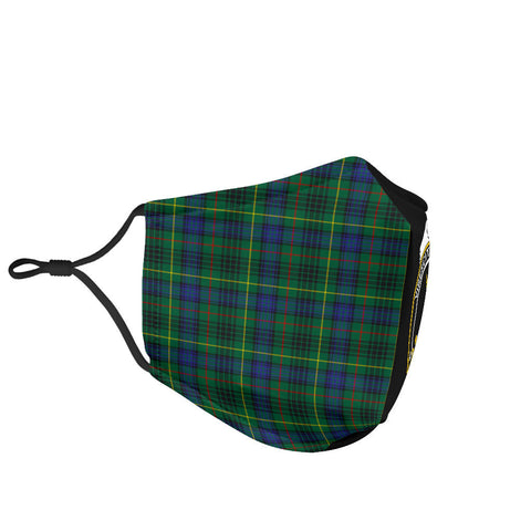 Image of Stewart Hunting Modern  Tartan Mouth Mask The Half Th88