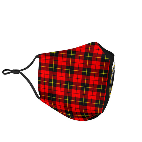 Wallace Hunting - Red  Tartan Mouth Mask The Half Th88