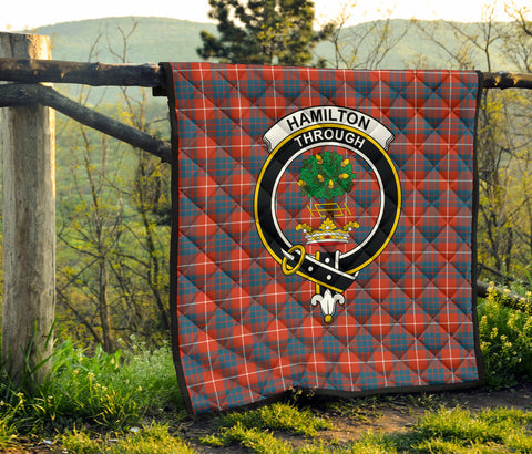 Hamilton Ancient Tartan Clan Badge Premium Quilt TH8