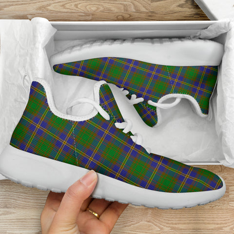Image of Tartan Mesh Knit Sneakers - Strange of Balkaskie - BN