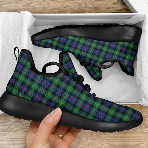 Image of Tartan Mesh Knit Sneakers - Farquharson Ancient - BN