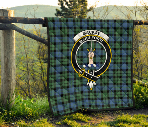 Image of MacKay Ancient Tartan Clan Badge Premium Quilt TH8