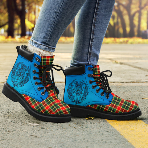 Maclachlan Hunting Modern Tartan All-Season Boots - Celtic Thistle TH8