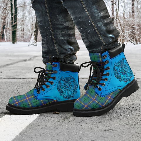 Image of Carmichael Ancient Tartan All-Season Boots - Celtic Thistle TH8