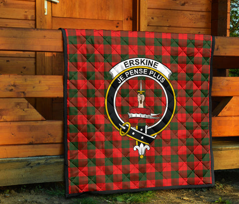 Erskine Modern Tartan Clan Badge Premium Quilt TH8