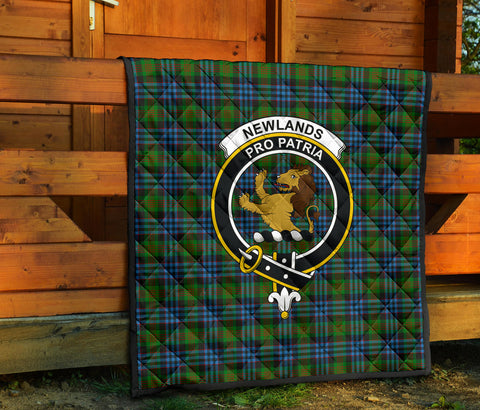 Image of Newlands of Lauriston Tartan Clan Badge Premium Quilt TH8
