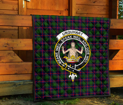 Urquhart Modern Tartan Clan Badge Premium Quilt TH8