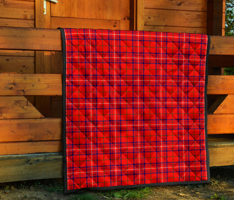 Rose Modern Tartan Premium Quilt TH8