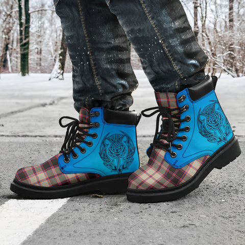 Macpherson Hunting Ancient Tartan All-Season Boots - Celtic Thistle TH8