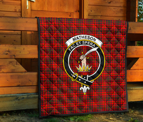 Image of Matheson Modern Tartan Clan Badge Premium Quilt TH8