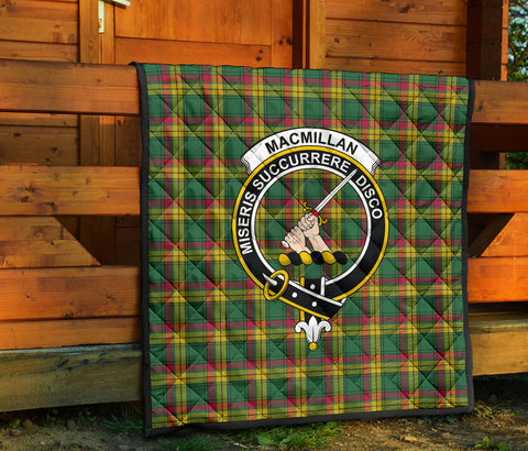 Image of MacMillan Old Ancient Tartan Clan Badge Premium Quilt TH8