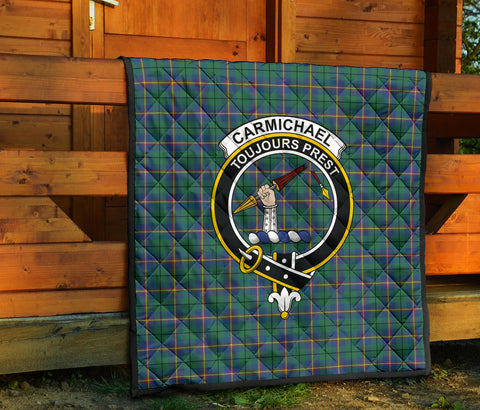 Carmichael Ancient Tartan Clan Badge Premium Quilt TH8