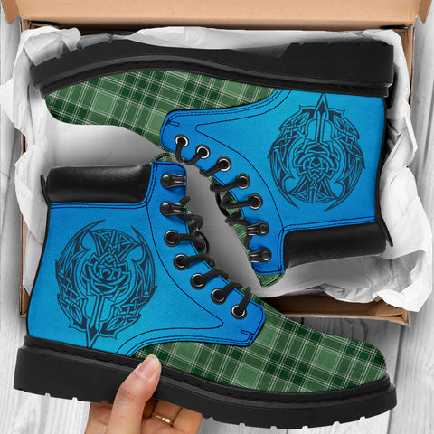 Macdonald Lord Of The Isles Hunting Tartan All-Season Boots - Celtic Thistle TH8