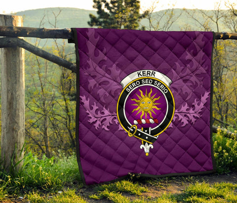 Image of Kerr Ancient Crest Violet Quilt