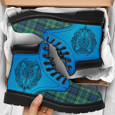 Macneill Of Colonsay Ancient Tartan All-Season Boots - Celtic Thistle TH8