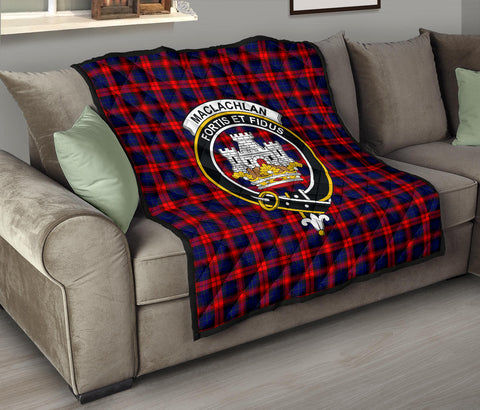 MacLachlan Modern Tartan Clan Badge Premium Quilt TH8