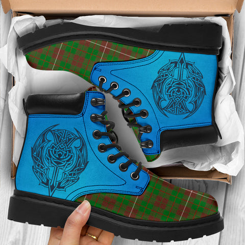 Image of Mackinnon Hunting Modern Tartan All-Season Boots - Celtic Thistle TH8