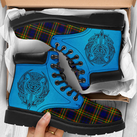 Maclellan Modern Tartan All-Season Boots - Celtic Thistle TH8