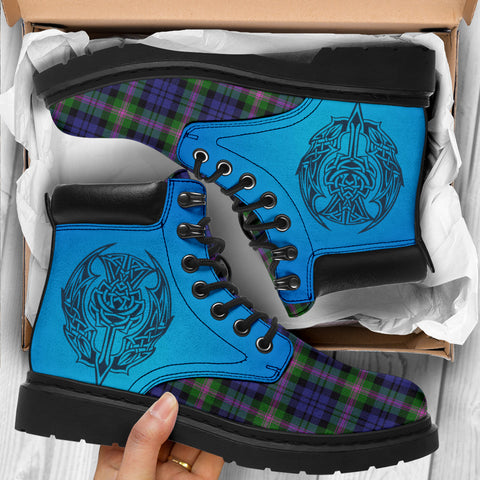 Image of Baird Modern Tartan All-Season Boots - Celtic Thistle TH8