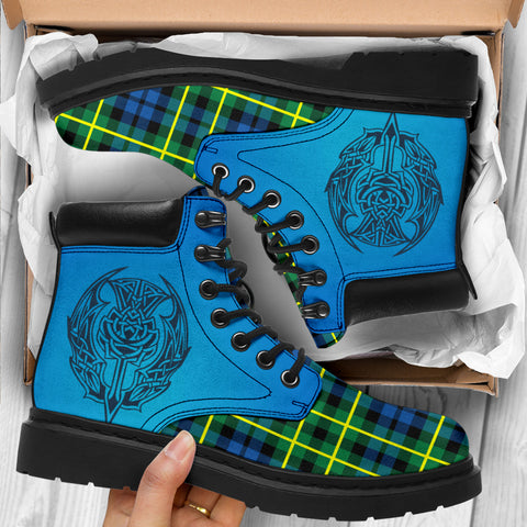 Campbell Of Breadalbane Ancient Tartan All-Season Boots - Celtic Thistle TH8
