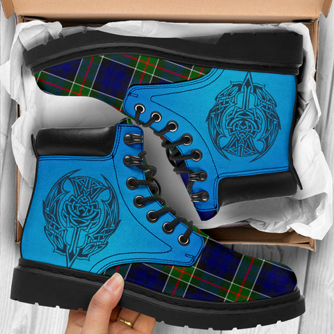 Colquhoun Modern Tartan All-Season Boots - Celtic Thistle TH8