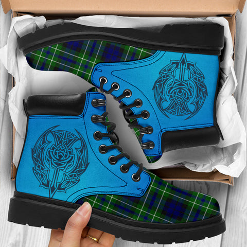 Macneil Of Colonsay Modern Tartan All-Season Boots - Celtic Thistle TH8