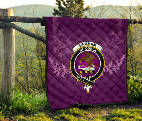 Graham of Menteith Weathered Crest Violet Quilt