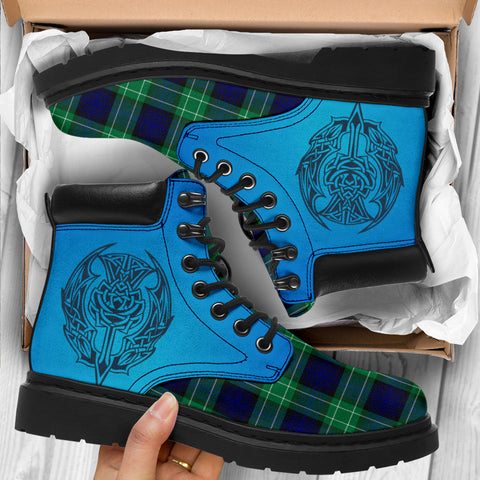 Abercrombie Tartan All-Season Boots - Celtic Thistle TH8